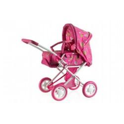 Kočík pre bábiky hlboký menšie plast / kov 62x37x66cm.