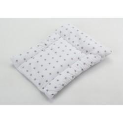 Prebaľovacia podložka - Hviezdičky bielo šedé