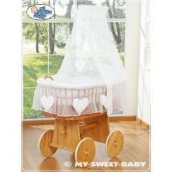 Prútený kôš pre bábätko Lux Srdiečka