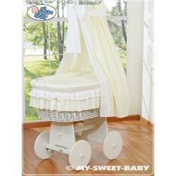 Prútený kôš pre bábätko biely