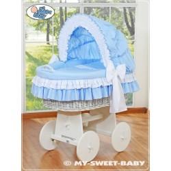 Prútený kôš pre bábätko biely DELUXE