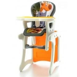 Jedálenská stolička Žirafa oranžová