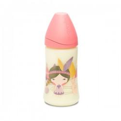 Fľaša s guľatým cumlom-silikón 270 ml