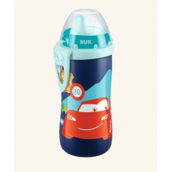 Detská fľaša so slamkou NUK KIDDY CUP 300 ml - Disney Cars