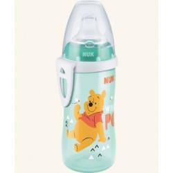 Detská fľaša so slamkou NUK Active Cup 300 ml - Medvedík Pú