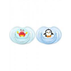 Dojčenský cumlík Avent 0-6 mesiacov - 2 ks Oceán