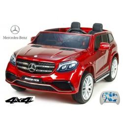 Dvojmiestný Mercedes GLS63 4x4,EVA kolesá,2,4G DO,LED osvetlenie,pérovanie,voltmeter,FM,USB,TF,čalunené sedačky,vínová metalíza