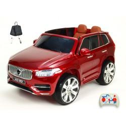 Volvo XC 90 s 2,4G DO, kľúče,Eva kolesá, otváracie dvere,čalunená sedačka,USB,FM,lakované vínové