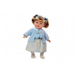 Bábika voňajúce 42cm modré šaty smejúci sa