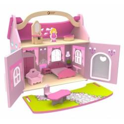 Drevený domček snov pre bábiky