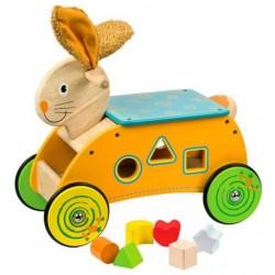 Edukačné drevené odrážadlo Zajačik
