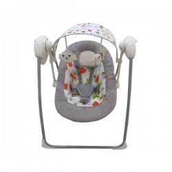 Detské lehátko s hojdačkou a strieškou s hračkami Baby Mix