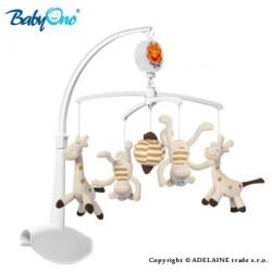 Kolotoč nad postieľku Baby Ono - Žirafky a opičky