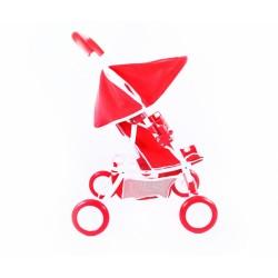 Športový kočík pre bábiky - červený