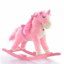 Húpací koník Milly Mally Mustang - káro béžové