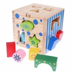 Drevená edukačná kocka, vkladačka