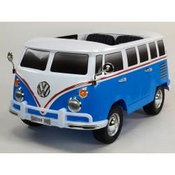 Dvojmiestný Volkswagen Transporter T1 Samba bus s 2.4G DO, otváracími dverami, pérovaním, originálnym zvukom, EVA,USB,TF,MP3