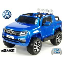 Dvojmiestný Volkswagen Amarok  s 2.4G DO,4x4, EVA kolesami, otváracími dverami, LED, FM, USB,lakovaný modrý