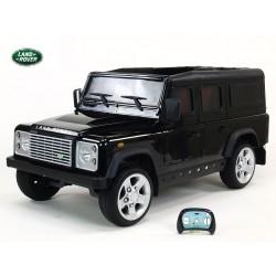 Land Rover Defender s 2,4G DO,2 klúčiky,EVA kolesá,3 otváracími dverami,USB,TF,voltmetrom,čalunenou sedačkou, čierny lakovaný