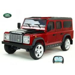 Land Rover Defender s 2,4G DO,2 klúčiky,EVA kolesá,3 otváracími dverami,USB,TF,voltmetrom,čalunenou sedačkou,vínová lak.metalíza