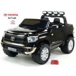Najväčšie elektrické autíčko Toyota Thundra 24V s 2.4G DO,otváracími dverami,USB, TF,Mp3,LED svetlami, svietiaciou rampou,čierne