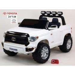 Najväčšie elektrické autíčko Toyota Thundra 24V s 2.4G DO,otváracími dverami,USB, TF,Mp3,LED svetlami, svietiaciou rampou,biele