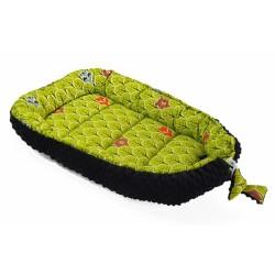 Obojstranné hniezdočko, kokon Minky 60x90cm- lesík - zelený