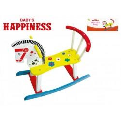 Húpací Koník drevenný Baby's Happiness