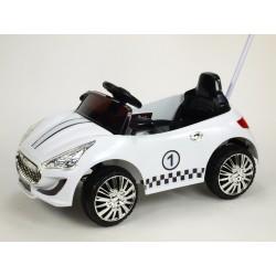 Moderné elektrické autíčko s DO biele