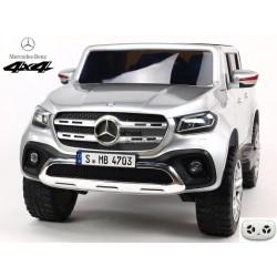 Mercedes – Benz X-Class 4x4, 2-miestný pick up s 2.4G DO, plynulým rozjazdom,USB, čalunením, EVA kolesami, strieborná metalíza