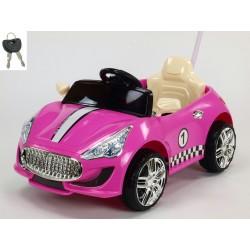 Moderné elektrické autíčko s DO ružové