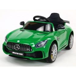 Mercedes AMG GTR, s 2.4G DO, EVA kolesami, otváracími dverami, LED osvetlením, USB,TF, Voltmetrom, 2x6V, lakovaný zelený