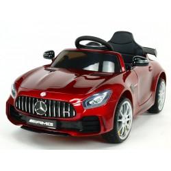 Mercedes AMG GTR, s 2.4G DO, EVA kolesami, otváracími dverami, LED osvetlením, USB,TF, Voltmetrom, 2x6V, vínová metalíza