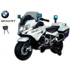 BMW R 1200RT, strieborná Policie Nemecka, 12V, LED a zvukové policajné efekty, 12V