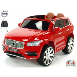Volvo XC 90 s 2,4G DO, kľúče,Eva kolesá, otváracie dvere,čalunená sedačka,USB,FM,lakované tehlovo-červené