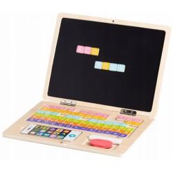 Drevený notebook s magnetickým monitorom