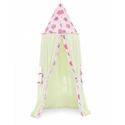 Stan pre deti, závesný stan - mätový / púpavy ružové