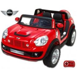 Elektrické auto MINI Beachcomber stredná veľkosť - plážové autíčko s 2,4G DO, plynulým rozjazdom, Mp3, voltmetrom,12V, červený