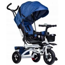 Detská trojkolka Lux s vodiacou tyči - modrá