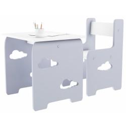 Sada nábytku Obláčik - Stôl + stoličky