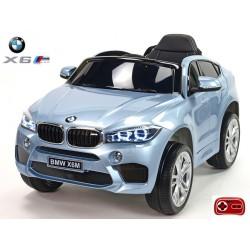 BMW X6 M s 2,4G bluetooth DO, EVA kolesami, lakovaná modrá farba