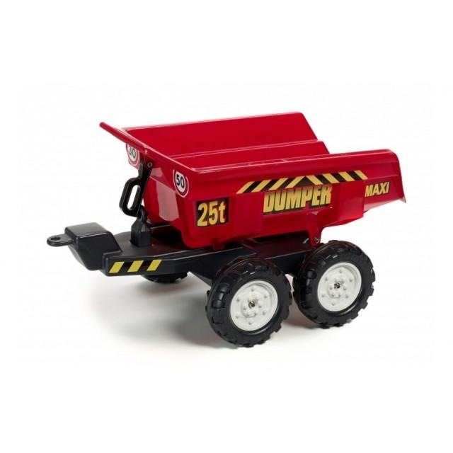 Vlečka za traktor Dumper maxi veľká, výklopná, 2 kolesová, dĺžka 82cm, Made in France