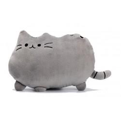 PUSHEEN Kočka - dekoračný vankúš 30x40cm,tm. šedá