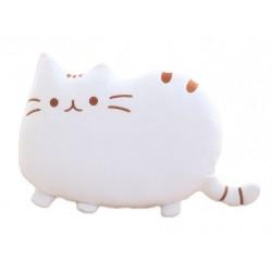 PUSHEEN Kočka - dekoračný vankúš 30x40cm, biela
