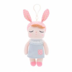 Handrová bábika Metoo XL s uškami v sivých šatičkách, 70cm