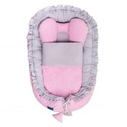 Luxusné hniezdočko s perinkou pre bábätko Králiček Belisima ružové