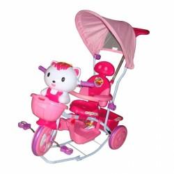 Detská multifunkčná trojkolka Euro Baby Mačička - ružová