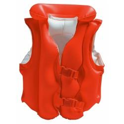 Rappa Nafukovacia vesta plávacie DELUXE červená, 3-6 rokov