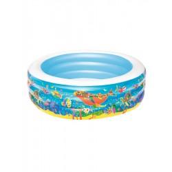 Teddies Bazén dětský kulatý nafukovací 229x51cm 3+