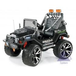 Elektrické autíčko Peg-Pérego Gaucho Superpower 24V čierna